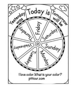color of the days of the week