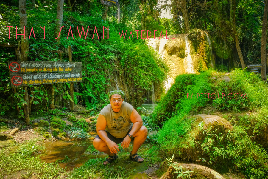 Than sawan waterfall one of most beautiful water fall in Thailand